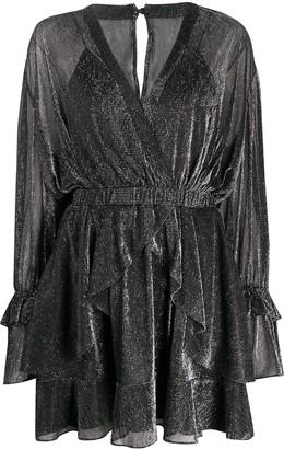 IRO Ruffle-Layered Wrap Dress
