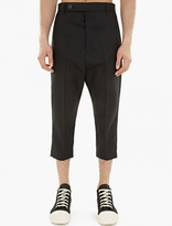 Rick Owens Black Wool Astaire Trousers