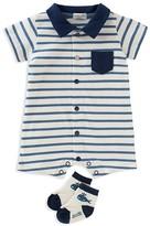 Absorba Boys' Striped Romper & Socks Set - Baby