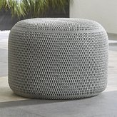 Crate & Barrel Grey Outdoor Pouf