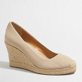 J.Crew Factory Canvas espadrille wedges