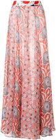 Michel Klein abstract print long skirt
