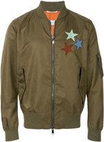 Valentino patchwork bomber jacket