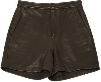 BLK DNM Black Leather Shorts