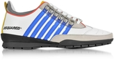DSQUARED2 White and Blue Leather Sneaker