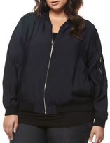 Dex Plus Zip-Front Bomber Jacket