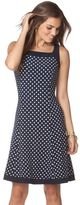 Chaps Women's Abstract Fit & Flare Dress