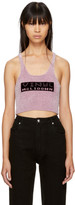 Alexander Wang Purple 'Vinyl Meltdown' Bralette Top