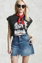 Forever 21 Raw-Cut Denim Mini Skirt