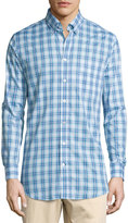 Bobby Jones Long-Sleeve Plaid Cotton Shirt, Teal