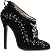 Marchesa 'Harper' embroidered boots - women - Suede/Leather - 38.5