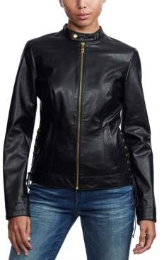 True Religion Laced-Side Moto Jacket