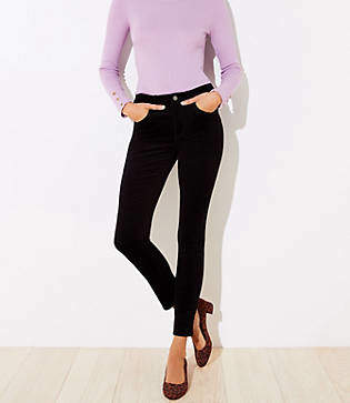 LOFT Tall High Waist Corduroy Skinny Pants in Curvy Fit
