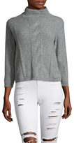 Qi Cable Stitch Cropped Sweater