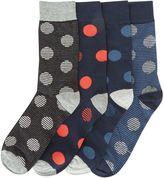 Jack and Jones Men's 4PK Large Spot Sock