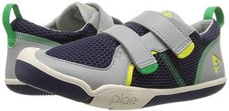Plae Ty (Little Kid) (Navy/Limestone) Boy's Shoes