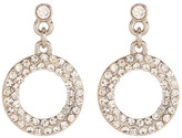 Natasha Accessories Double Crystal Halo Drop Earrings