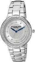 Stuhrling Original Women's 851.01 Vogue Sparkle Analog Display Swiss Quartz Silver Watch