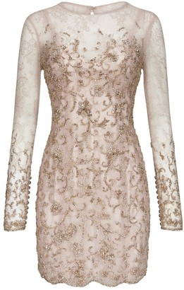 RALPH & RUSSO Pink Lace Dress for Women