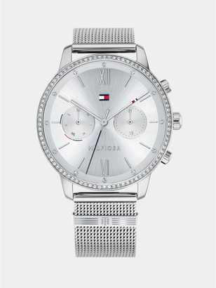 Tommy Hilfiger Stainless Steel Watch With Mesh Bracelet