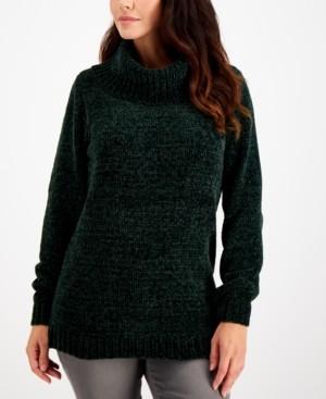 Karen Scott Solid Chenille Cowlneck Sweater, Created for Macy's