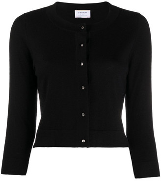 Snobby Sheep Silk-cashmere Blend Fine Knit Cropped Cardigan