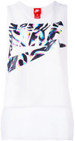 Nike logo print vest top - women - Polyester/Spandex/Elastane - S