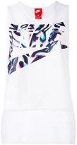 Nike logo print vest top