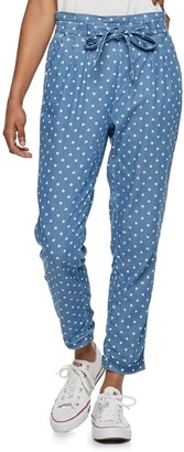 Almost Famous Juniors' Chambray Paperbag Waist Pants