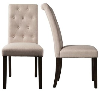 Canora Grey Haigh Tufted Upholstered Parsons Chair Upholstery Color: Beige