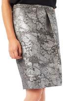 Precis Petite Jeff Banks Metallic Jacquard Skirt