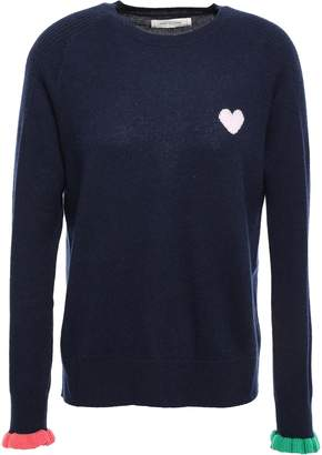 Parker Chinti & Intarsia Wool And Cashmere-blend Sweater