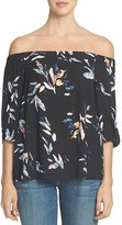 1 STATE 1.STATE Off-the-Shoulder Abstract Floral Blouse