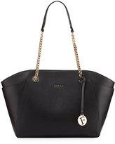 Furla Julia Medium Leather Tote Bag, Onyx