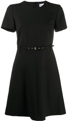 RED Valentino Belted Skater Dress