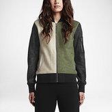 Nike Converse Metallic Color-Block Women's Bomber Jacket