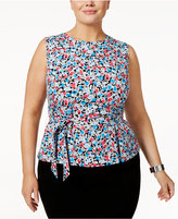 Nine West Plus Size Belted Top