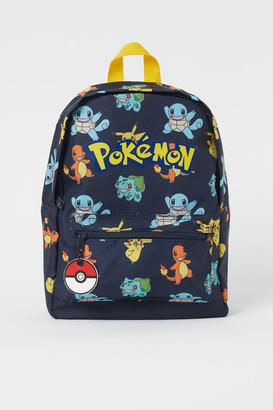 H&M Printed Backpack - Blue