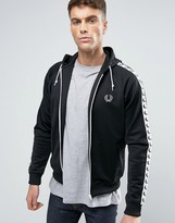 Fred Perry Sports Authentic Hooded Track Jacket in Black