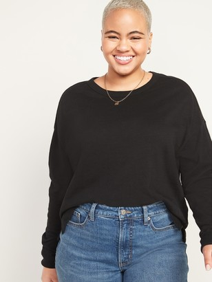 Old Navy Loose Thick Slub-Knit Easy Long-Sleeve Tee for Women