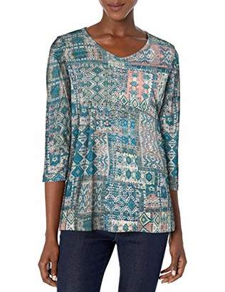 Gloria Vanderbilt Women's Teegan 3/4 Sleeve Top