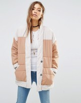Free People Poplin Quilted Jacket In Color Block