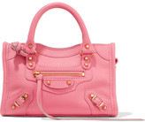 Balenciaga Classic City Nano Texured-leather Shoulder Bag - Pink