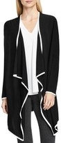 Vince Camuto Piped Drape Front Cardigan