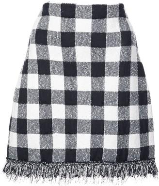 Oscar de la Renta Checked Mini Skirt