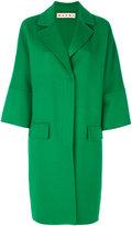 Marni single breasted cocoon coat