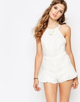 Stone_Cold_Fox Stone Cold Fox Noah Striped Linen Romper in White
