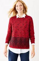 J. Jill Jacquard-Border Pullover