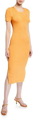 Lapointe Shiny Jersey Fitted Dress