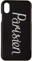 MAISON KITSUNÉ Black Parisien iPhone X Case